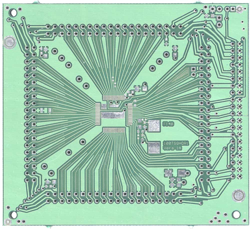 Example of a microcontroller based PCB